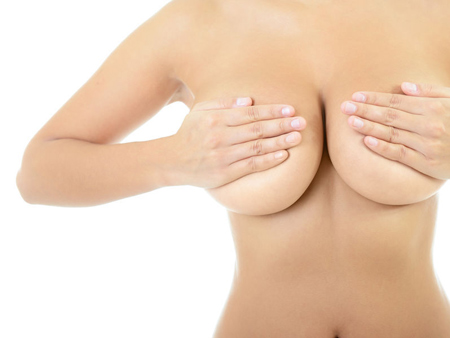Female breast with countur line, Vampire Breast Lift